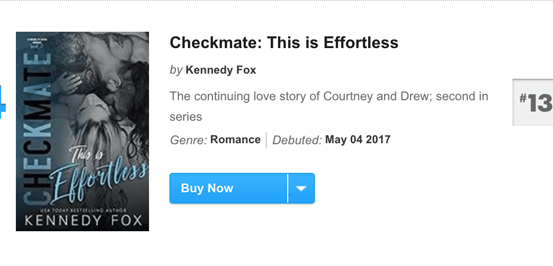 Checkmate: This is Effortless is a USA Today Bestseller!